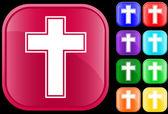 крест символом — Cтоковый вектор