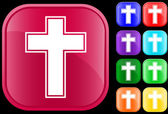 Symbolu kříže — Stock vektor
