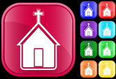 Icon of church — Stockvector