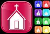 Ikona církve — Stock vektor