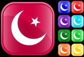 伊斯兰教的符号 — 图库矢量图片