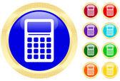Icon of calculator — Stock Vector