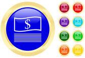 иконка деньги — Cтоковый вектор