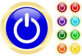 Icon of power button — Stock Vector