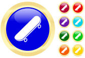 Icon of skateboard — Stock Vector