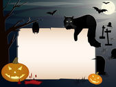 Halloween background with copy space — 图库矢量图片