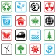 Vector de stock : Icon set Environment