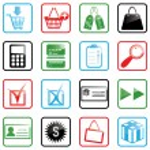 Icon set Shopping — Stock Vector