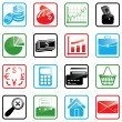 Vector de stock : Icon set Finance