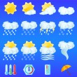 Weather icons — Vettoriale Stock #1643136