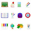 Education icon set — Vettoriale Stock #1643155