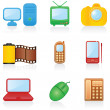 Icon set Media — Stock Vector #1643183