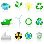 Набор иконок окружающей среды — Cтоковый вектор