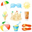 Icon set Vacations — Vettoriale Stock #1643222
