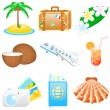 Stock Vector: Icon set Vacations