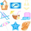 Vector de stock : Icon set Vacations