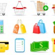 Shopping icons — Stok Vektör #1643269