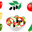 Greek salad — Stock Vector