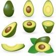 Avocado — Stock Vector