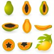 Stock Vector: Papaya