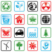 Icon set Environment — Stok Vektör
