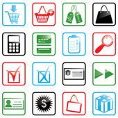 Icon set Shopping — Vettoriale Stock
