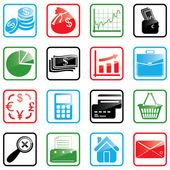 Icon set Finance — Vecteur