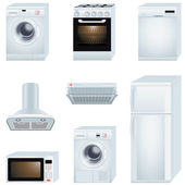Home appliances — Vettoriale Stock