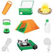 Icon set Camping — Stock Vector