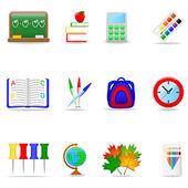 Utbildning ikonuppsättning — Stockvektor