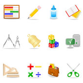 Vzdělávací sada ikon — Stock vektor