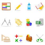 Zestaw ikon edukacji — Wektor stockowy