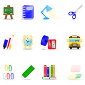 Education icon set — Vettoriale Stock