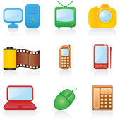 Icon set Media — Stock Vector