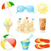Icon set Vacations — Stock Vector