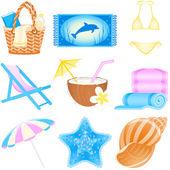 Zestaw ikon wakacje — Wektor stockowy