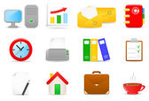 Office icons — Stockvector