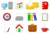 Office-pictogrammen — Stockvector