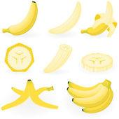 Banán — Stock vektor