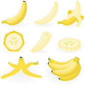 Banana — Vector de stock
