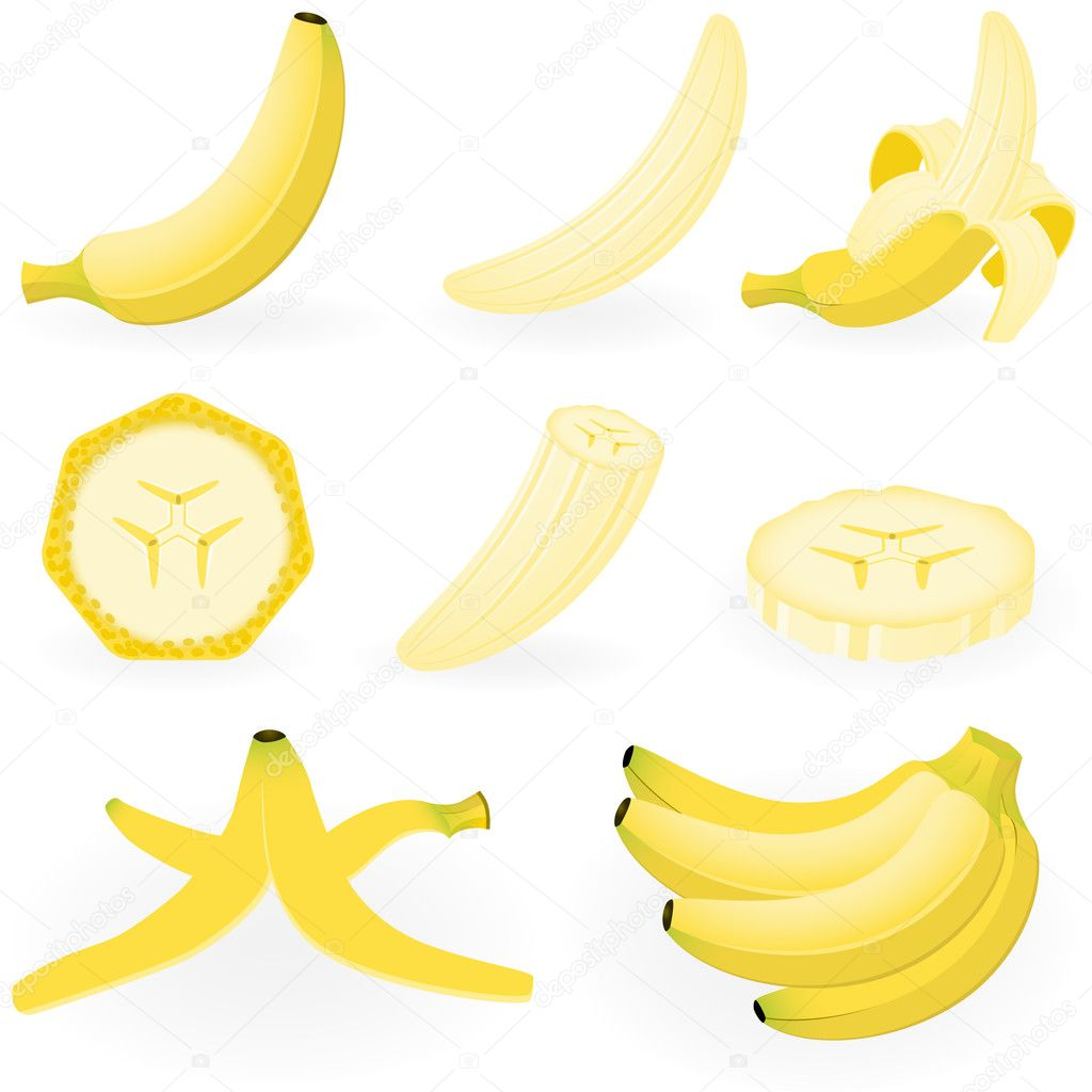 Vector illustration of banana  Stock Vector #1643385