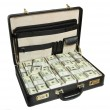 Case full of dollar — Lizenzfreies Foto