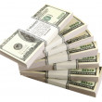 stack dollar — Stockfoto