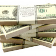 Stack of dollars — Stock Photo