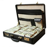 Case full of dollar — Stock Photo