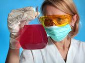Женщина-ученый — Стоковое фото