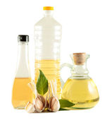 Olive and vegetable oil — Stock Photo