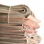 Newspaper stack — Stock Photo #1626534