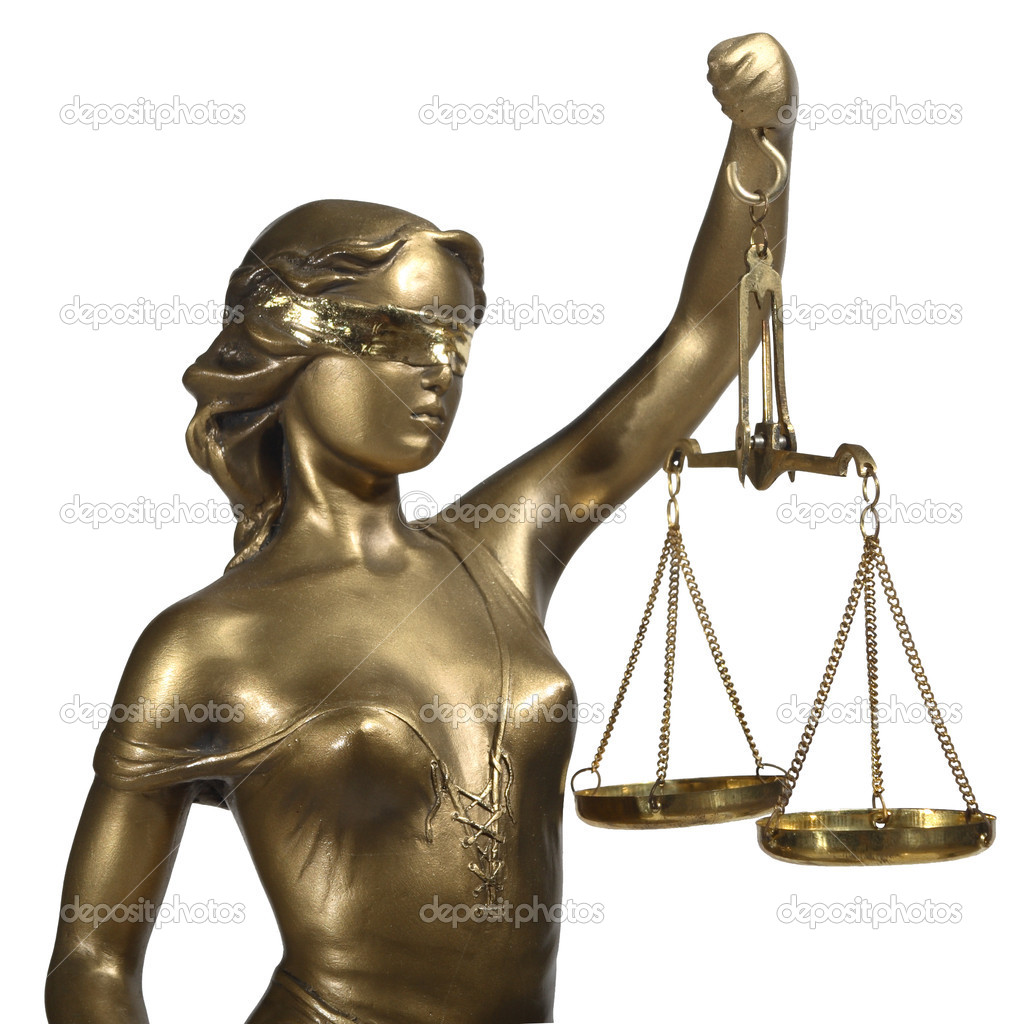 Lady of Justice on white background — Stock Photo #1642350