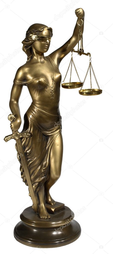 Lady of Justice on white background — Stock Photo #1642366